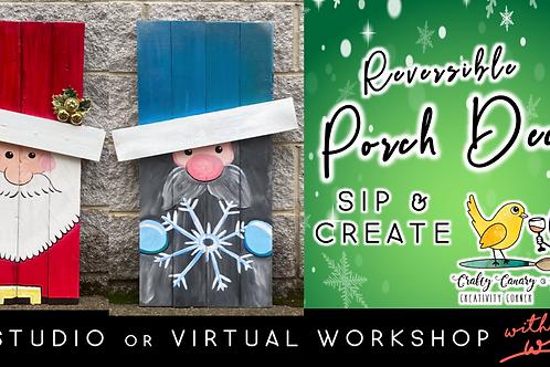 Reversible Porch Decor | Santa/Gnome (12/4 @ 6pm)