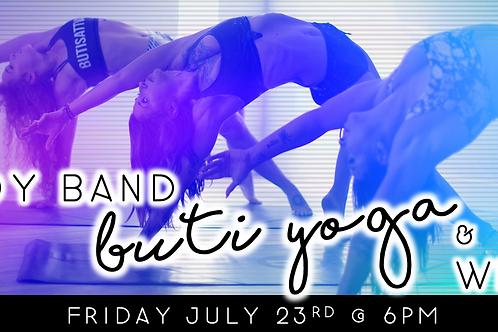 Boy Band Buti Yoga & Wine (7/23 @ 6pm)