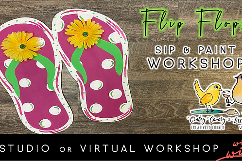 Giant Flip Flops Sip & Paint Workshop (7/9 @ 6pm)