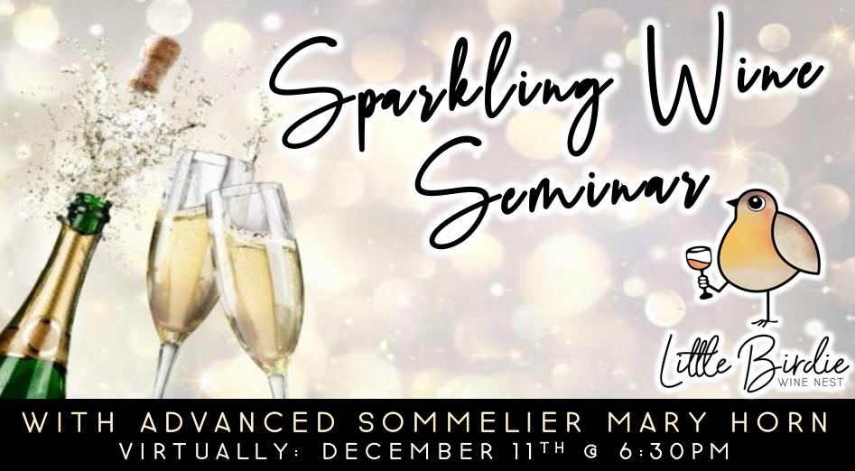 VIRTUAL: Sparkling Wine Seminar with Sommelier Mary Horn