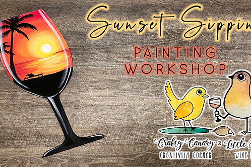 Sunset Sipping Sip & Paint Workshop (7/30 @ 6pm)