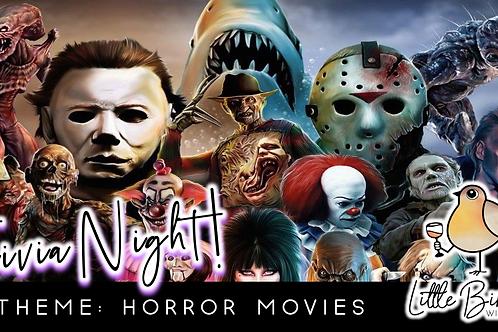 Trivia Night: Horror Movies Theme! (10/26 @ 6:30pm)