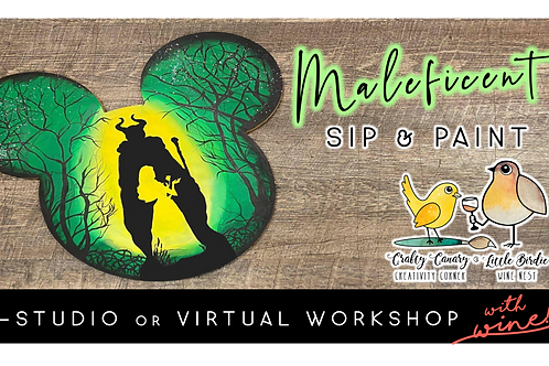Maleficent Mickey Sip & Paint Workshop (10/7 @ 6pm)