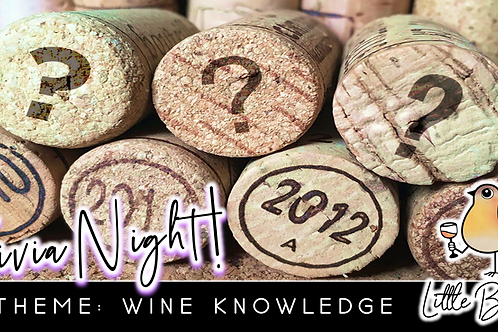 Trivia Night: Wine Knowledge Theme! (1/18 @ 6:30pm)