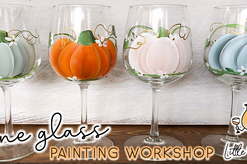 Rustic Pumpkins Wine Glass Sip & Paint Workshop (11/3)