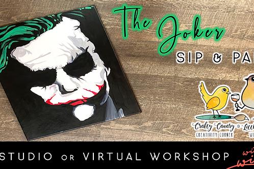 The Joker Sip & Paint Workshop (10/13 @ 6pm)