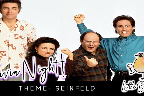 Trivia Night: Seinfeld Theme! (11/16 @ 6:30pm)