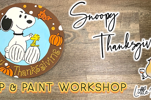 Snoopy Thanksgiving Sip & Paint (10/29 @ 6pm)