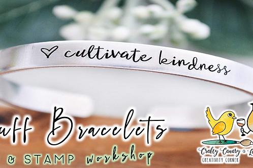 Cuff Bracelets Sip & Stamp Workshop (3/16)