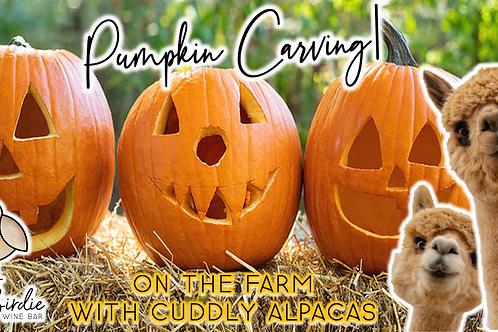Pumpkin Carving with Alpacas (10/24 @ 1pm)