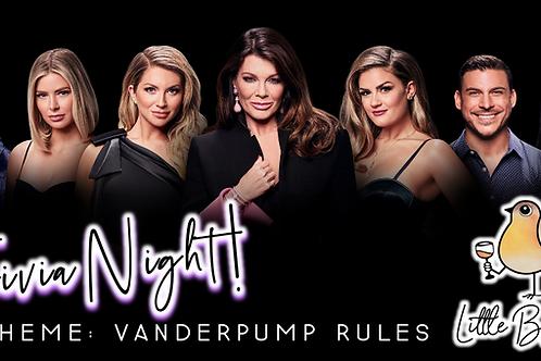 Trivia Night: Vanderpump Rules Theme! (11/9 @ 6:30pm)