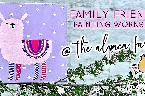 Family Friendly Painting @ The Alpaca Farm (8/22 @ 11am)