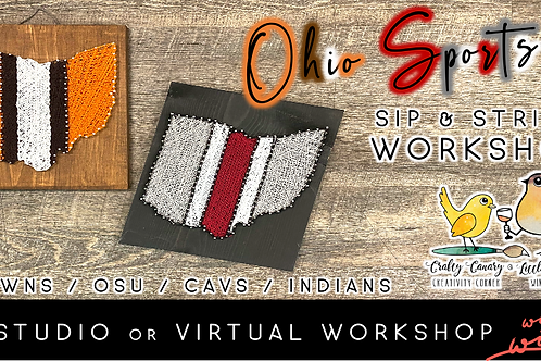 Ohio Sports Sip & String Workshop (3/20 @ 1pm)