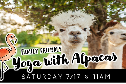 Family Friendly Yoga with Alpacas (7/17)