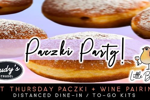 Packzi Party | Fat Thursday Packzi + Wine Pairing (2/11)