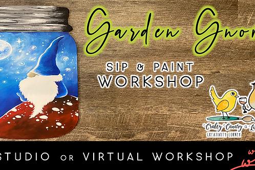 Garden Gnome Sip & Paint Workshop (6/11 @ 6pm)