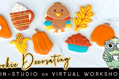 Thanksgiving Cookie Decorating Workshop (11/21 @ 10am)