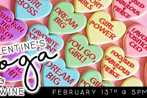 Girl Power Galentine's Yoga + Wine (2/13 @ 5pm)