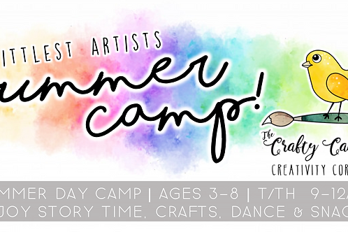 Littlest Artists Half Day Summer Art Camp!