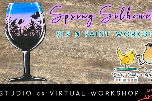 Spring Silhouette Sip & Paint (4/2 @ 6pm)