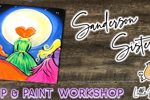 Sanderson Sisters Sip & Paint Workshop (10/2 @ 4pm)