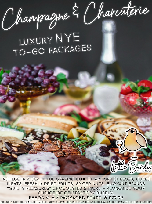 Champagne & Charcuterie | Luxury NYE Packages