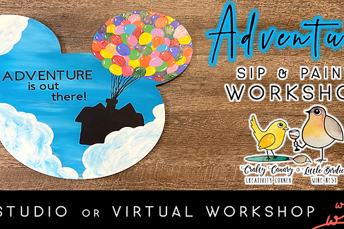 Adventure Mickey Sip & Paint Workshop (5/29 @ 4pm)