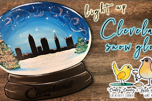 Light Up Cleveland Snowglobe Sip & Paint Workshop (12/2 @ 6pm)