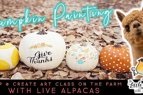 Pumpkin Painting with Alpacas (10/10 @ 1pm)