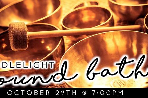 Candlelight Sound Bath (10/24 @ 7pm)