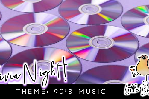 Trivia Night: 90's Music Theme! (11/2 @ 6:30pm)