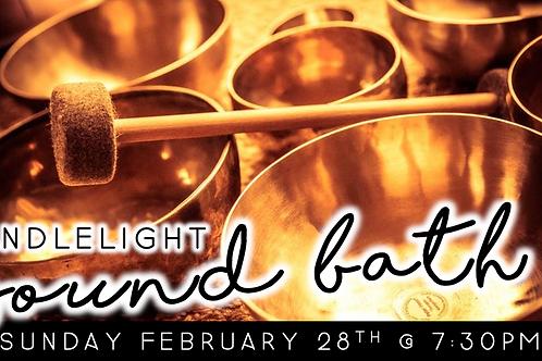 Candlelight Sound Bath (2/28 @ 7:30pm)