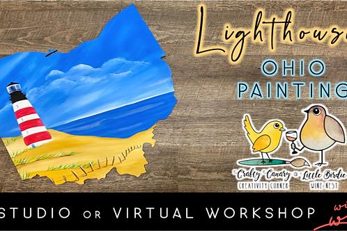 Lighthouse Ohio Sip & Paint Workshop (5/15 @ 7pm)