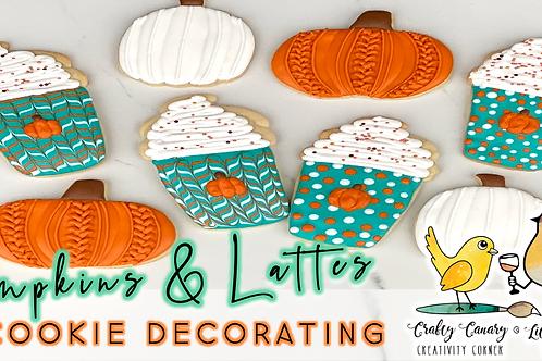 Pumpkins & Lattes Cookie Decorating Workshop (9/4 @ 10am)