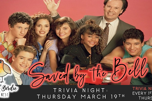 Saved By The Bell Trivia Night