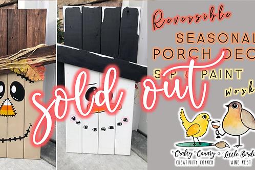 SOLD OUT: Reversible Seasonal Porch Decor Sip & Paint (9/17 @ 6pm)