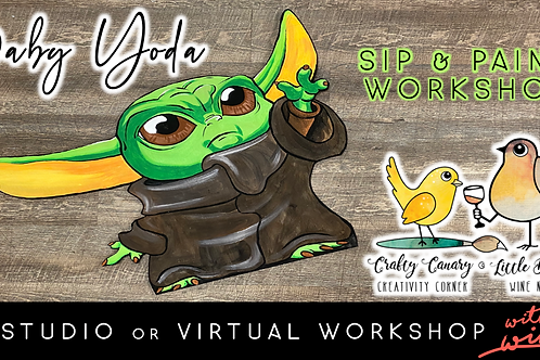 Baby Yoda Sip & Paint Workshop (2/26 @ 6pm)