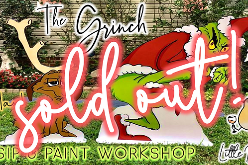 """SOLD OUT: """"The Grinch"""" Light Up Yard Art 