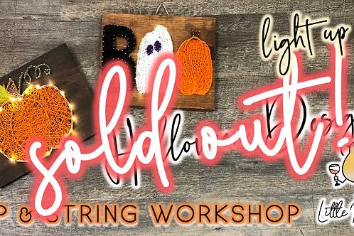 SOLD OUT: Halloween Designs Sip & String Workshop (9/20 @ 6pm)