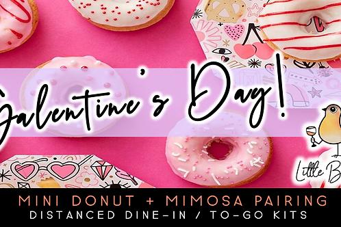 Galentine's Day | Mini Donut + Mimosa Pairing (2/6)