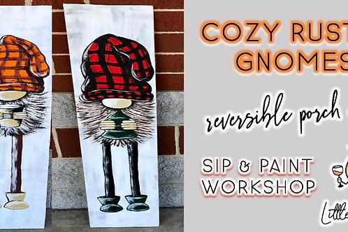 Reversible Porch Decor: Cozy Rustic Gnomes  Sip & Paint (9/4  @ 4pm)