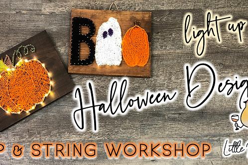 Halloween Designs Sip & String Workshop (10/4 @ 6pm)