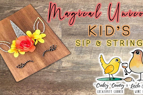 Magical Unicorn Kid's Sip & String Workshop (3/21 @ 10am)