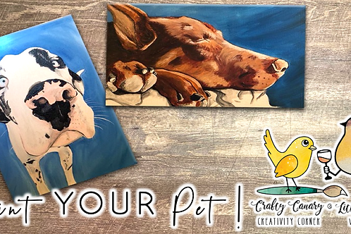 Paint YOUR Pet Sip & Paint Workshop (3/13 @ 4pm)