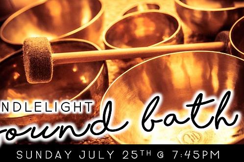 Candlelight Sound Bath (7/25 @ 7:45pm)
