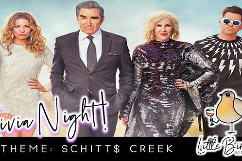 Trivia Night: Schitt$ Creek Theme! (10/12 @ 6:30pm)