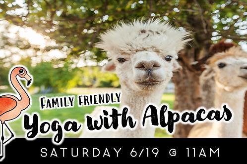 Family Friendly Yoga with Alpacas (6/19)
