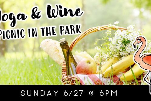 Yoga & Wine Picnic in the Park (6/27)