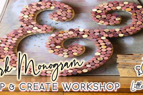 Cork Monogram Sip & Create Workshop (9/16 @ 6pm)