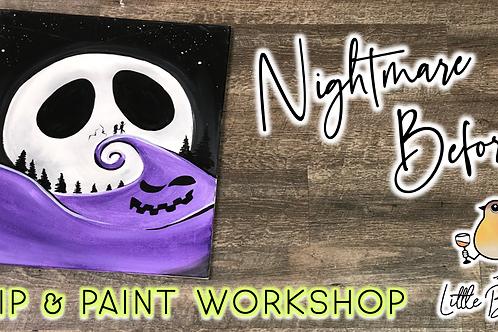 Nightmare Before Sip & Paint Workshop (10/9 @ 4pm)